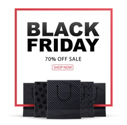 black friday 2017 shopping bags place for text 2018 2020