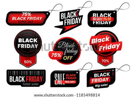 241d87ded78e Black friday tag. Market sale tags, shopping sales sign label and promo marketing  labels