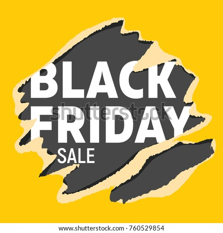 stock-vector-black-friday-universal-banner-white-letters-on-black-background-teared-into-bright-yellow-wrapping