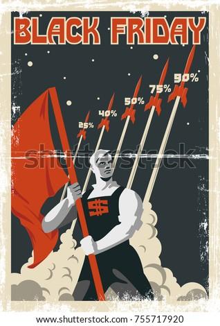 black friday vector poster