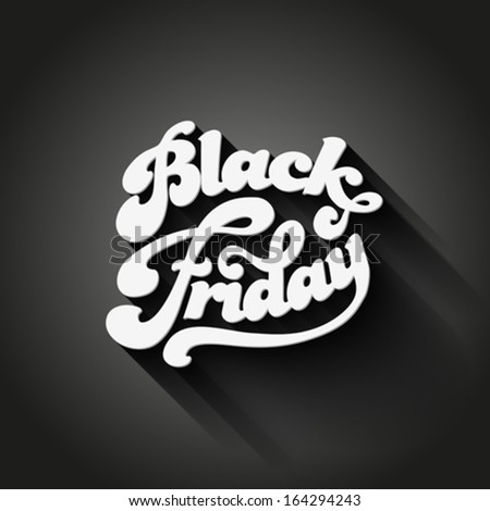 Black Friday vector Vintage design poster template. Retro style Typography. Creative lettering. Trendy.