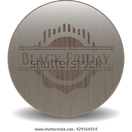 Black Friday wood emblem. Retro