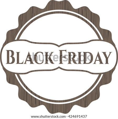 Black Friday wooden emblem