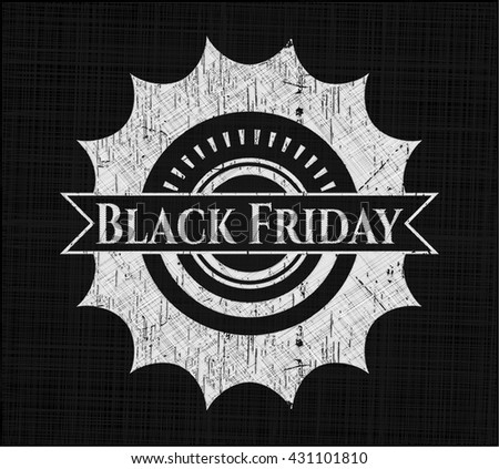 Black Friday written on a chalkboard