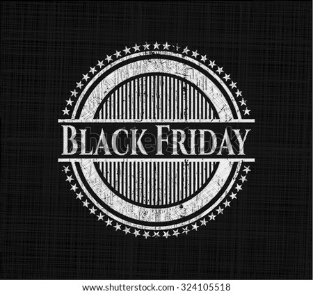 Black Friday written with chalkboard texture