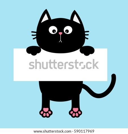 black funny cat hanging on