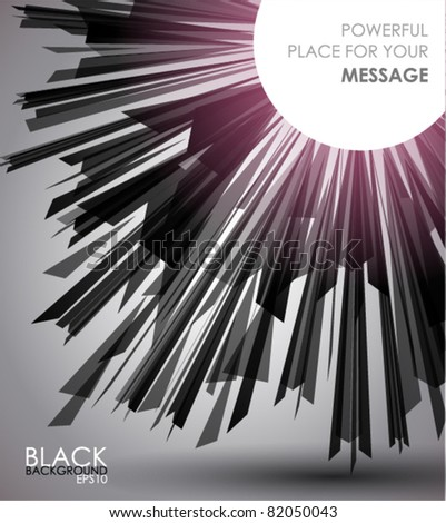 Black Geometric background with space for text.