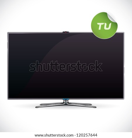 black glossy lcd tv   samsung
