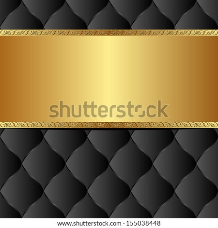 black gold background with copy space