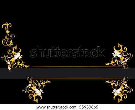 Золото с черным дизайн
