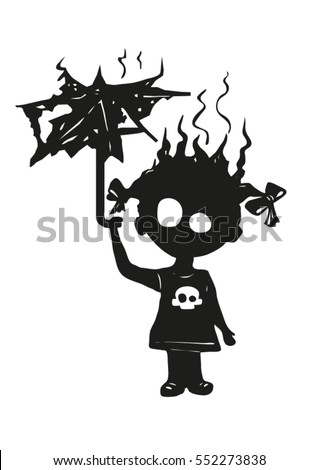 black gothic silhouette of a