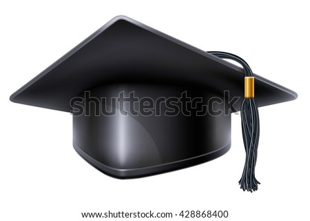 Vector Images Illustrations And Cliparts Black Graduation Cap With