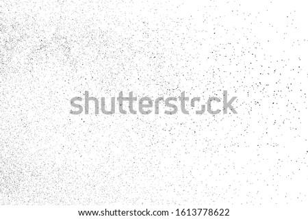 Black Grainy Texture Isolated On White Background. Dust Overlay. Dark Noise Granules. Digitally Generated Image. Vector Design Elements, Illustration, Eps 10.