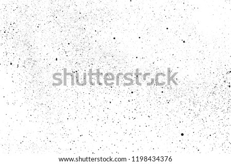 Black grainy texture isolated on white background. Dust overlay. Dark noise granules. Vector design elements, illustration, eps 10.