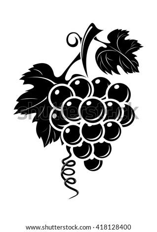 black grapes icon isolated on