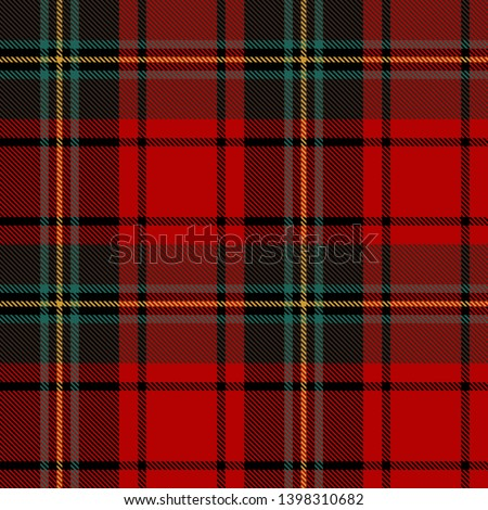 Black,  Green, Red and  White  Tartan  Plaid  Seamless Pattern Background. Flannel  Shirt Tartan Patterns. Trendy Tiles Vector Illustration for Wallpapers.