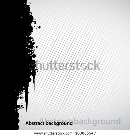 Black grunge abstract background
