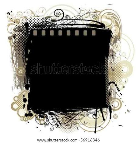 Black grunge background - stock vector