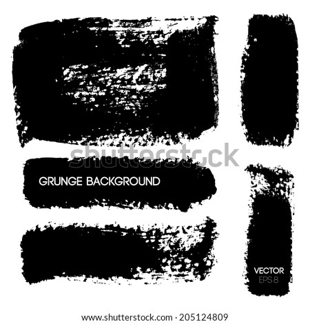 Black Grunge Background. Vector illustration. #205124809