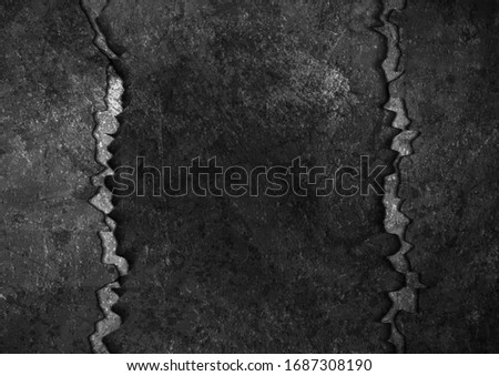 black grunge broken concrete
