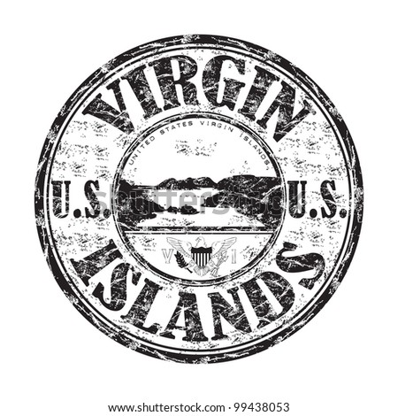 Black grunge rubber stamp with the name of United States Virgin Islands written inside the stamp