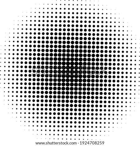 Black halftone background. Black polka dot. Halftone pattern. Modern clean Halftone Background, backdrop, texture, pattern or overlay. Vector illustration. Stock photo ©