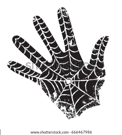 black hand with the web the