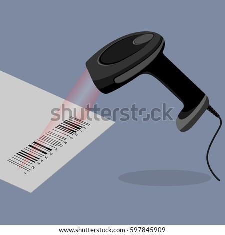 black handheld barcode scanner