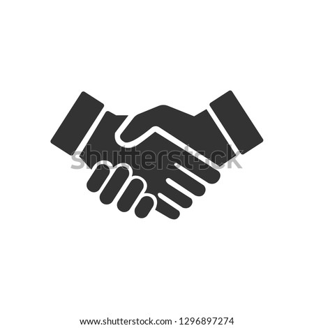 Black  Handshake icon for Business, Partnership, cooperation