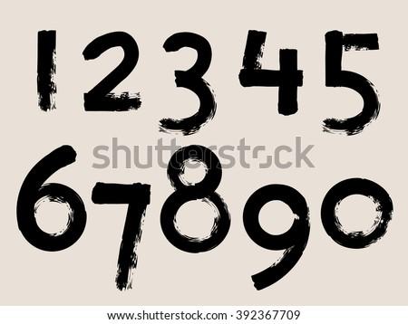 Black Handwritten Style Numbers