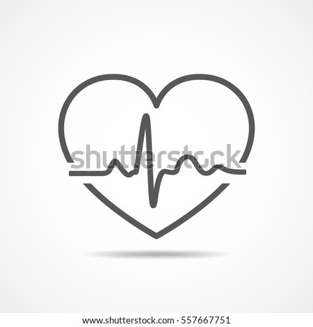 black heart icon with sign