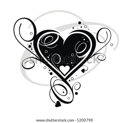 black and white background pictures. Heart on white background