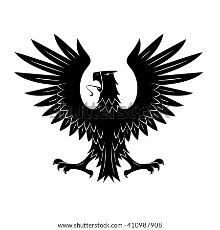 black heraldic eagle of ancient