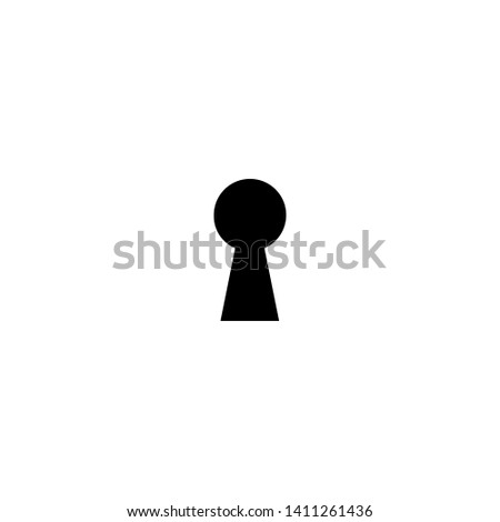 black hey hole  icon. Padlock, lock symbol isolated on white. Flat vector illustration. safety button. Pass word. Case.  Foto stock ©