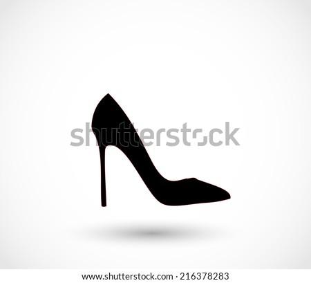 black high heels icon vector