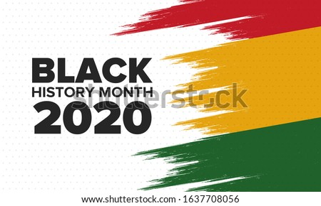 Black History Month. African American History. Celebrated annual. In February in United States and Canada. In October in Great Britain. Poster, card, banner, background. Vector illustration