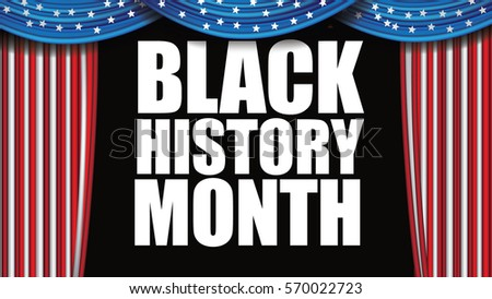 Black History Month design. For celebration and recognition in the month of February. EPS 10 vector.