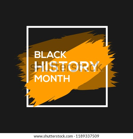 black history month greeting design template