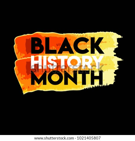 Black History Month Logo Vector Template Design