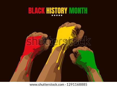 Black History Month, Template Background, Vector Illustration.