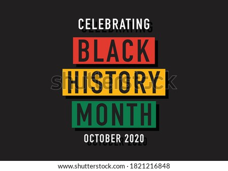 Black history month (UK) October 2020 vector illustration