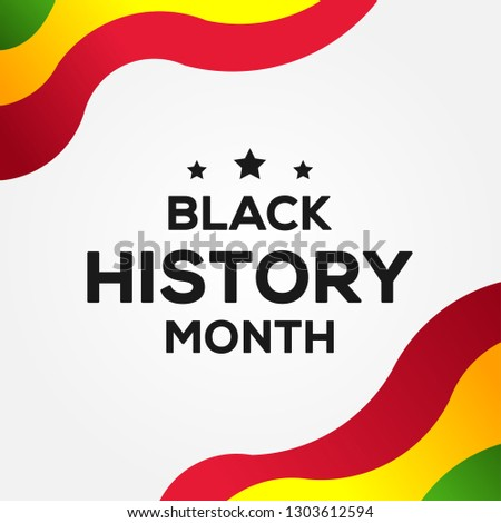 Black History Month Vector Design With Background