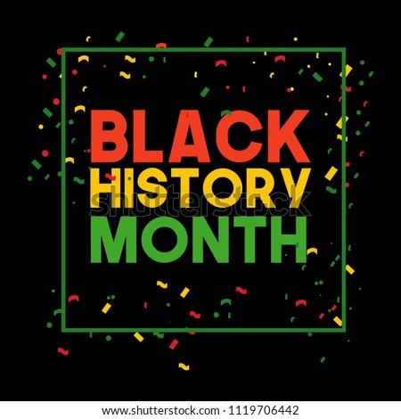 Black History Month Vector Template Design Illustrator