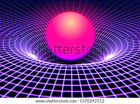 Glowing Grid Vector