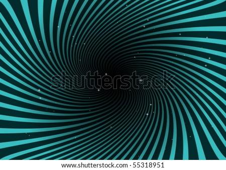 black hole spreading