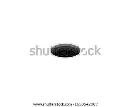 Black hole vector flat icon. Isolated golf hole emoji illustration  Foto stock ©