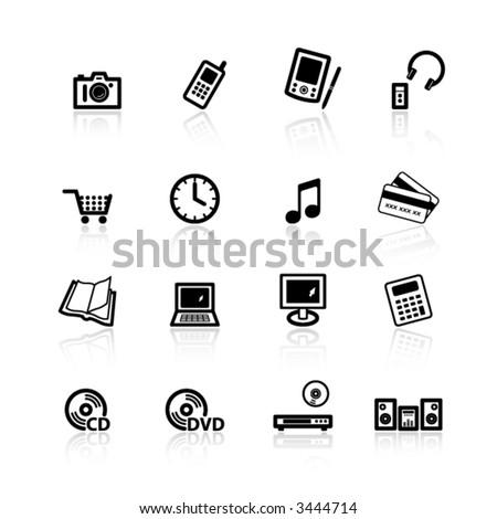 black home electronics icons