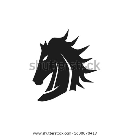 black horse head with cool style
