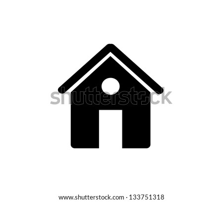 Black House Home Icon Black Home Icon