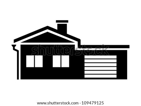 Black House Icon Stock Vector Illustration 109479125 Shutterstock